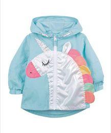 $enCountryForm.capitalKeyWord Canada - 2019 Autumn new kids jacket girls rainbow unicorn embroidery casual outwear children hooded long sleeve outwear fashion boy clothes F8716
