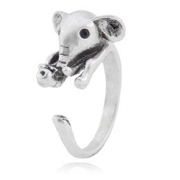 $enCountryForm.capitalKeyWord Australia - Cute Babay Elephant Ring For Women Midi Finger Ring Boho Animal Couple Rings For Girls Men Jewelry Unique Gift Idea