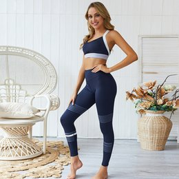 $enCountryForm.capitalKeyWord Australia - 2PCS Women Yoga Set Gym Clothes High Waisted Sport Leggings+Sports Bra Workout Sport Suit Femme Fitness Set Running Active Wear