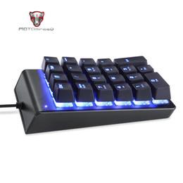 Key Numeric Australia - Motospeed K22 Mechanical Numeric Keypad Backlight Keyboard 22 Keys Mini Numpad Extended Layout Mini Pocket Keyboard Backlight
