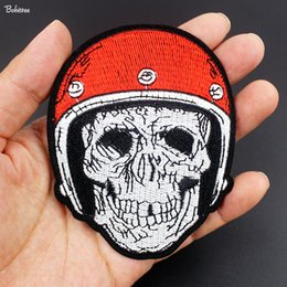 $enCountryForm.capitalKeyWord Australia - 2018 New Hot Amazing Skull Patches Badge Iron on Embroidered Appliques for Jackets Jeans Backpack Clothes Decoration