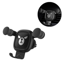 car mobile phone holder stand NZ - FIRECLUB New Universal Car Phone Holder Bracket Gravity Outlet Cartoon Mobile Phone Stand Holder Car Navigation Rack