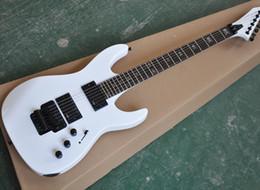 Floyd Rose White Australia - Wholesale White Floyd Rose Electric Guitar with EMG Pickups,Rosewood tretboard with Skeleton Fret Inlay,Black Hardwares