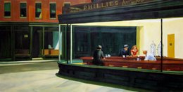 Rep. Edward Hopper -1 Home Decor Handpainted &HD Print Oil painting On Canvas Wall Art Canvas Pictures 191124 on Sale