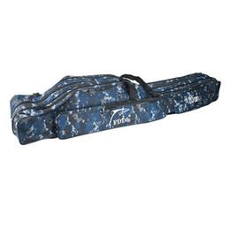 Camouflage Pole Australia - Camouflage 90 110 120 130 150cm Fishing Bag Folding Fishing Rod Bag 2   3 Layer Canvas Carp Pole Tackle Tools Pesca #469746