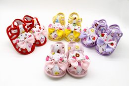 $enCountryForm.capitalKeyWord Australia - Summer Baby Sandals Cute Bow Shoes With Flower Kids Baby Girls Sandals Shoes Skid Proof Toddlers First Walkers