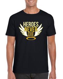 $enCountryForm.capitalKeyWord Australia - Heroes Never Die Mercy Inspired Video Game T-shirt S-2XLTops wholesale Tee custom Environtal printed Tshirt cheap wholesale