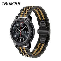 $enCountryForm.capitalKeyWord Australia - 22mm Premium Stainless Steel Watch Band For Samsung Gear S3 Classic Frontier Gear 2 Neo Live Quick Release Strap Wrist Bracelet T190620