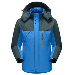 b76d17c97ce Men Winter Waterproof Warm Plush Padded Jackets Parkas Coats Men s Outdoor  Casual Cotton Streetwear Overcoat Plus Size M-5XL