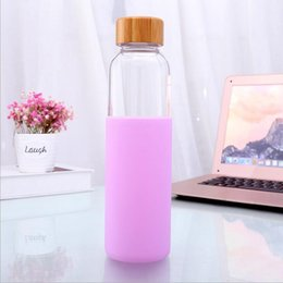 $enCountryForm.capitalKeyWord Australia - Dishwasher Safe 20 Oz Borosilicate Glass Water Bottle with Bamboo Lid and Protective Sleeve- Bpa Free