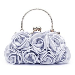 $enCountryForm.capitalKeyWord NZ - Floral Ladies Clutch Bag Women Evening Party Bag Prom Bridal Diamante Baguette Silver