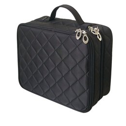 $enCountryForm.capitalKeyWord Australia - Beautician Necessary Double Layer Cosmetic Bag Box Women Beauty Vanity Make Up Tools Organizer Case Travel Toiletry Wash Storage Y19052501
