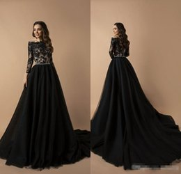 $enCountryForm.capitalKeyWord Australia - 2019 Black Prom Dresses Off The Shoulder Lace Appliqued Beaded Belt A Line Sweep Train Cheap Evening Gowns Custom Formal Party Dress Robe