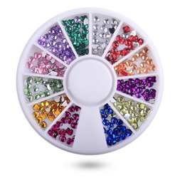 $enCountryForm.capitalKeyWord NZ - 1 Box Heart Shape Acrylic Nail Art Decoration Wheel Glitter 3D Design Rhinestone Charm Jewelry Nail Stones Tools