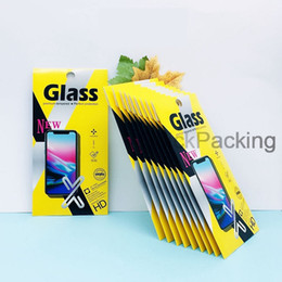 print screen iphone NZ - Retail box Package Paper packaging boxes bag for Tempered Glass Screen Protector for iphone XR XS Max X 8 Plus Huawei Print LOGO