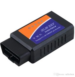 Toyota Engine Wholesalers Australia - Universal ELM327 Wifi Scanner Auto OBD2 Diagnostic Tool ELM 327 WIFI OBDII Scanner V 1.5 V1.5 Wireless For Both iPhone iPad Android Phone