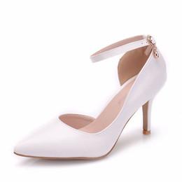 Shoes Women High Heel White Australia - Women White Heels Sexy Wedding White Shoes Fetish 8cm High Heels Lady Stiletto Plus Size Pumps Sandals