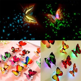 $enCountryForm.capitalKeyWord UK - LED Night Light 3W LED Butterfly Dragonfly Stick-On Lamp Wall Light Colorful Fiber Optic Night Lights For Festival Decorations Wall Lights