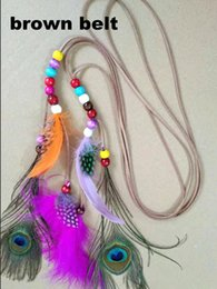$enCountryForm.capitalKeyWord Australia - New Handmade Adjustable Women Feather Headband Bohemian Dream Catcher Stone Hair Bands Festival Hippie Headdress