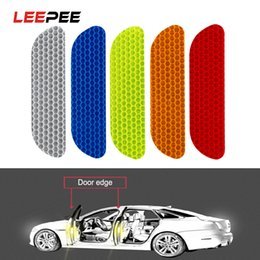 Wheels stickers online shopping - LEEPEE Pieces set Car Reflective Stickers Reflective Strips Safety Mark Warning Tape Car Door Wheel Eyebrow Sticker Decal