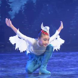 red bird costume 2019 - Wing Lingyun Dance Costume Children's Styling Dance Dress Girls Birds Eagle Eagle Spreading Stage Performance Costu