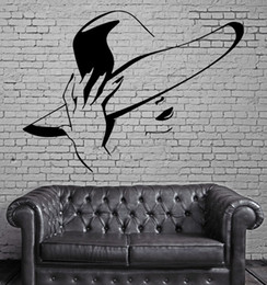 wall stickers sexy girls UK - Hot Sexy Girl Wall Stickers Beauty Hair Spa Salon Mural Wall Art Decor DIY Self-adhesive Wall Decal Wallpaper