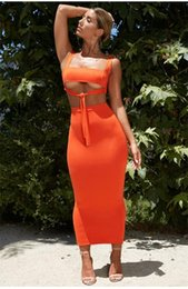 Wholesale two piece crop top and skirt for sale – designer Sexy Two Piece Set Piece Set Women Two Outfits Crop Top And Skirt Matching Sets Summer Clothes For Women