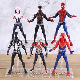 marvel heroes toys Canada - Action Figure Film SpiderMan Toy Returning Heroes Gwen Stacy Spider Vrouw Spider Man Cartoon Speelgoed Action Figure Model Doll Action