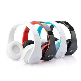 Wireless Headphone Sets Wholesale UK - NEW NX-8252 Stereo Casque Audio Mp3 Wireless Bluetooth 3.0 Headset Wireless Headphones Earphone Head set Phone for iPhone For Samsung
