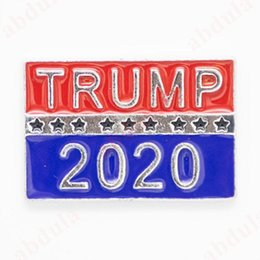 banner gift Australia - 2020 Donald Trump Brooch Clothes Brooches 2020 President Election Banner Badge Keep America Great Donald Trump Election Armband Badge