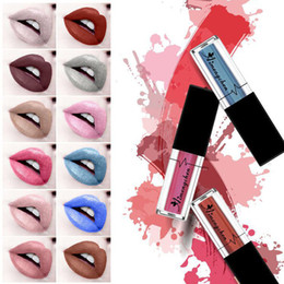moisturizing lip stain NZ - Sexy 12 Colors Lasting Glitter Liquid Lipstick Shimmer Lips Makeup Tint Moisturizing Shine Lip Gloss Stain