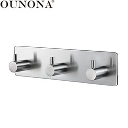 $enCountryForm.capitalKeyWord Australia - wholesale Stainless Steel Hooks Hanger Key Purse Hooks Coat Hanger Robe Towel Hook 3-Hook for Bathroom Kitchen Wall