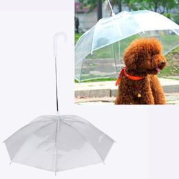 $enCountryForm.capitalKeyWord NZ - Transparent PE Pet Umbrella Small Dog Umbrella Rain Gear with Dog Leads Keeps Pet Dry Comfortable in Rain Snowing a812