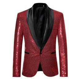 america jersey s UK - Europe And America Performance Formal Dress Gold Sequin Suit South Korea Suit Nightclub Men'S Wear Host Master of Ceremonies Stu