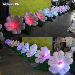 club bar decoration NZ - Lighting Inflatable Flower Chain Blow Up Plum Blossom With Led Lights For Night Club And Bar Decoration