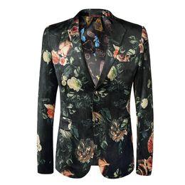 $enCountryForm.capitalKeyWord UK - Loldeal Men's Stylish Dragon Floral Suits Fashion One-button Party Blazer Jacket T2190605