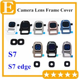 $enCountryForm.capitalKeyWord NZ - New Back Rear Camera Lens Glass with Frame Holder Cover Pink Blue For Samsung Galaxy S7 edge G930 G935 Universal Replacement part