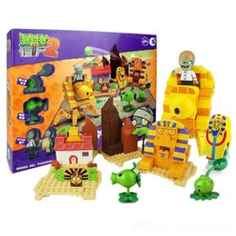 Build Block minifigures online shopping - Building Blocks Minifigures Action hot game Plants vs Zombies PVZ can luach Kids Christmas hoilday Gift DIY Toys