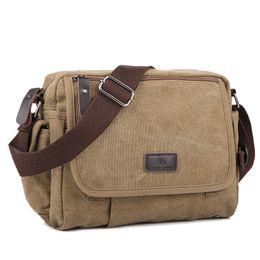c73197f1ab2e Casual Canvas Men Small Shoulder Bag Satchel Vintage Retro Crossbody Sling  Bag For Men Leisure Male Messenger Bags Handbag 1106