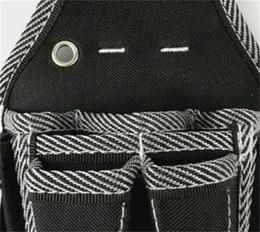 Ingrosso L'uomo Elettricista Repair Tool marsupio bianco Twill sacchetto multifunzionale nero semplice Toolbox Terylene Comodo vendite calde 15 29rdC1