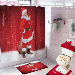 $enCountryForm.capitalKeyWord Australia - Christmas Santa Claus Bathroom Curtain Merry Christmas Decor for Home 2019 Ornaments Navidad Xmas Gifts New Year 2020