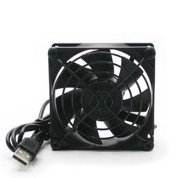 Toptan satış 90mm 9 cm USB mini fan 5 V USB ızgara sessiz alıcı ile soğutma alıcısı için DVR alıcısı / Playstation / Xbox / yönlendirici / TV set-top box