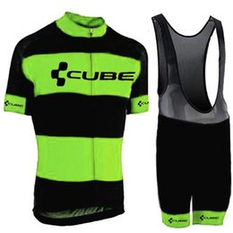 Discount cube short clothing - New CUBE Cycling Jerseys Set Summer Pro Team Short Sleeves racing Bike Clothes Ropa Ciclismo hombre quick dry Cycling Cl