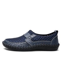 breathable mesh shoes men casual Australia - Jkpudun Summer Breathable Mesh Men Shoe Lightweight Sneakers Men Fashion Male Casual Shoes Brand Designer Slip On Mens Loafer