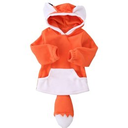 $enCountryForm.capitalKeyWord UK - Infant Long Sleeve Hoodie Jacket Sweater Europe And The United States Autumn Winter New Cute Fox Shape Baby Warm 1-3 Years Old