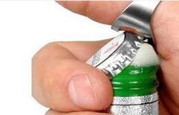 Portátil de Aço Inoxidável Colorido Beer Bar Ferramenta Dedo Anel Abridor de Garrafas bottel favores frete shiping