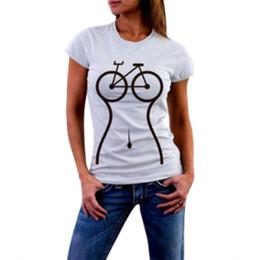 Women Bike Clothing UK - Plus Size Funny T Shirts Women Girls Bike Print Short Sleeve O Neck T Shirt Streetwear White Woman Clothes Camisa
