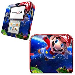 Wholesale Super Mario Bros Super Hero Video Game Vinyl Decal Skin Sticker Cover for Nintendo DS System Console Front and Back