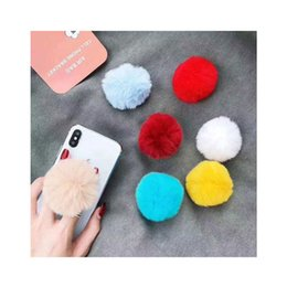 Plush Phone Holders Australia - Lazy Cute Plush Phone holder Expanding Phone stand with real 3M glue for Samsung S10 plus for iphone xs max