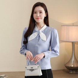 women office clothing Australia - Women blouse shirt New 2020 Spring long sleeve chiffon shirt Office lady shirt Bow plus size women clothing blusas